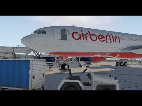 X-Plane 11 | IVAO/FSCloud | Hamburg - Palma de Mallorca | Air Berlin Airbus A330 [GER | ENG]