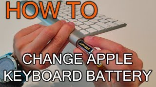 How to Replace Battery in Apple Keyboard