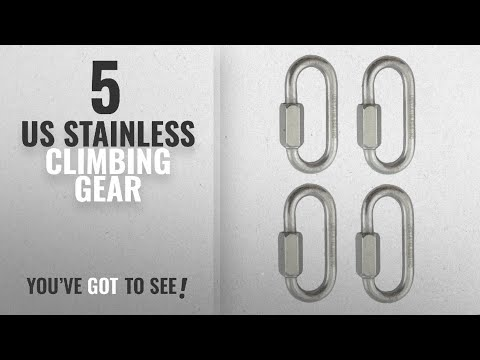 """Top 10 Us Stainless Climbing Gear [2018]: Stainless Steel 316 Quick Link Marine Grade (1/4"""" (4"""