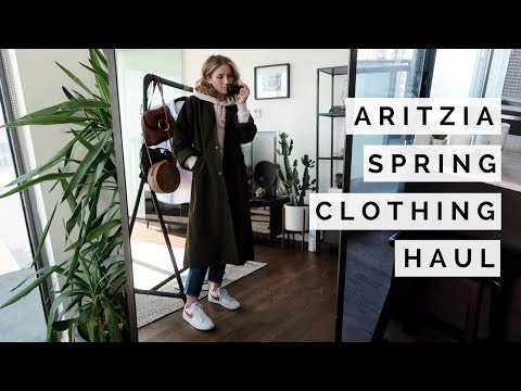 ARITZIA SPRING CLOTHING HAUL AND TRY ON | SPRING AND SUMMER STYLE