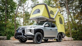 Mitsubishi Gets L200 Reądy For Lockdown With Inflatable Camping Tent