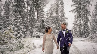 Snowy Whistler Elopement | Juliana & Dan | Teaser