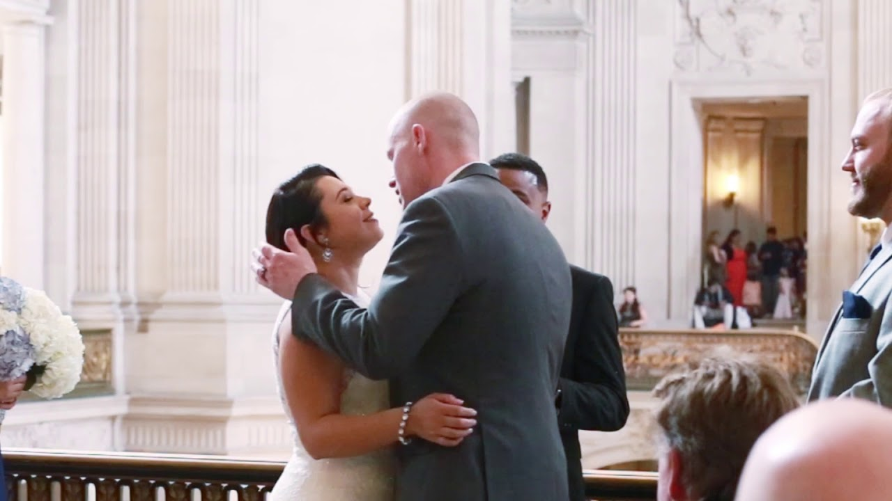 Most Beautiful San Francisco City Hall Wedding Video On The Mayors Balcony