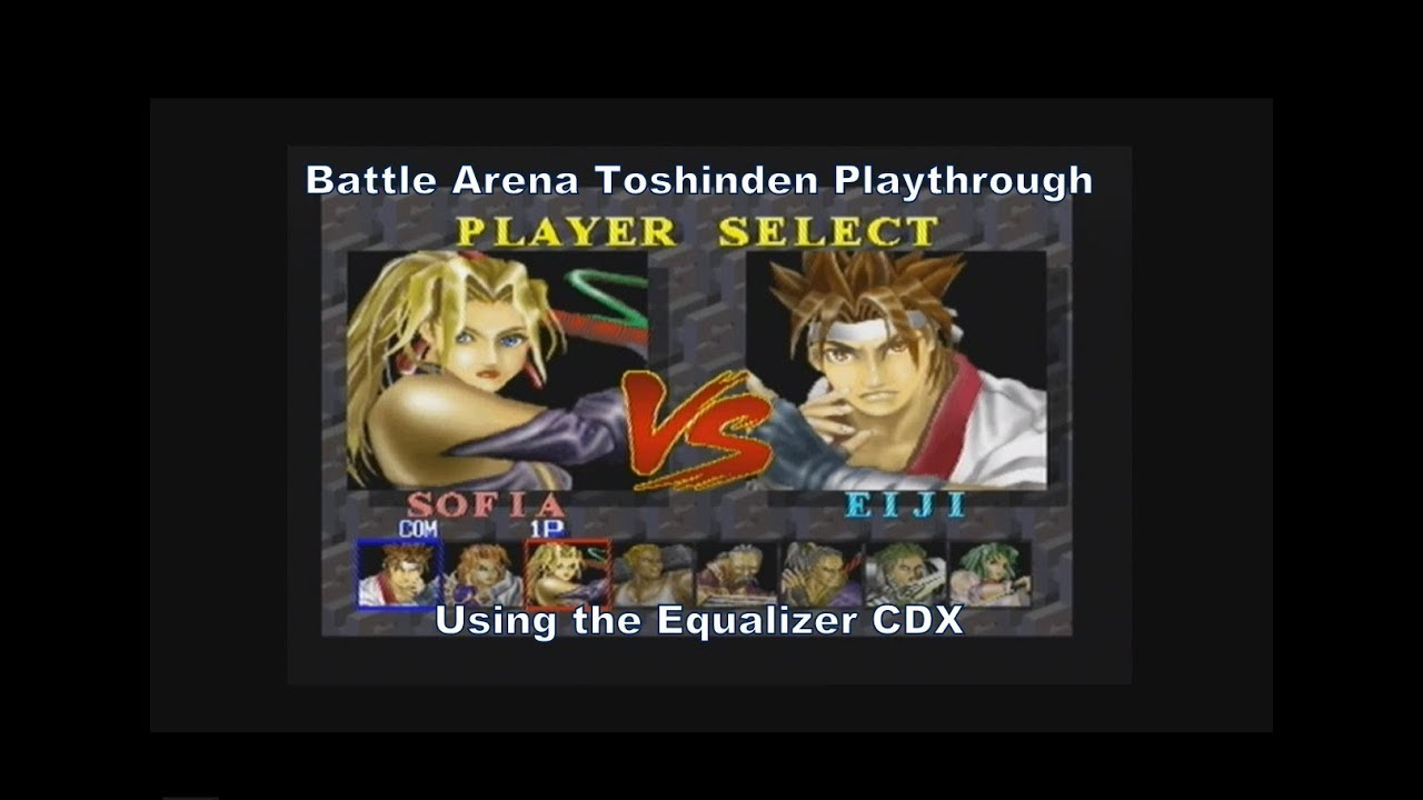 Battle Arena Toshinden Sofia Playthrough Using The Equalizer Cdx