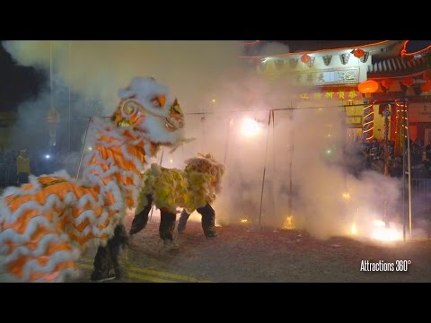 [HD] Thousands of Firecrackers with Lions - Chinese New Year 2017 - ChinaTown, Los Angeles