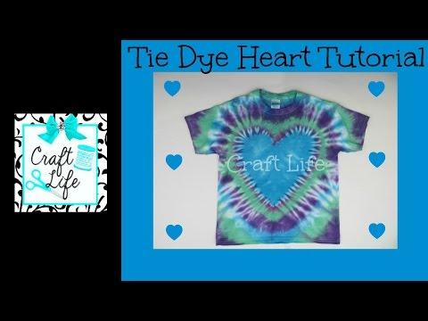 Craft Life Heart Tie Dye Tutorial