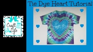 Craft Life ~ Jacy and Kacy DIY ~ Heart Tie Dye Tutorial