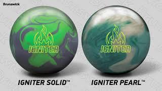 Brunswick Igniter Solid Bowling Ball Lime Green//Grey 14lbs