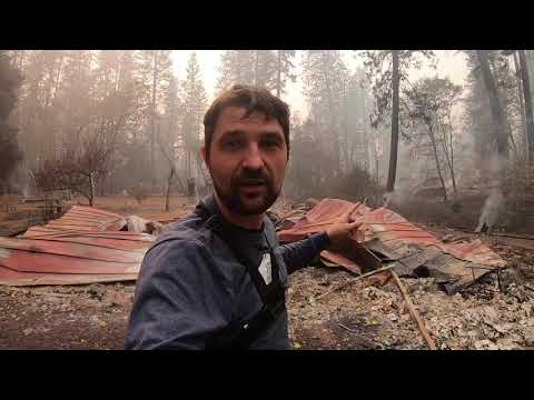 After Fire at Paradise Ca, Campfire. California wildfire 2018, Butte County Mp3