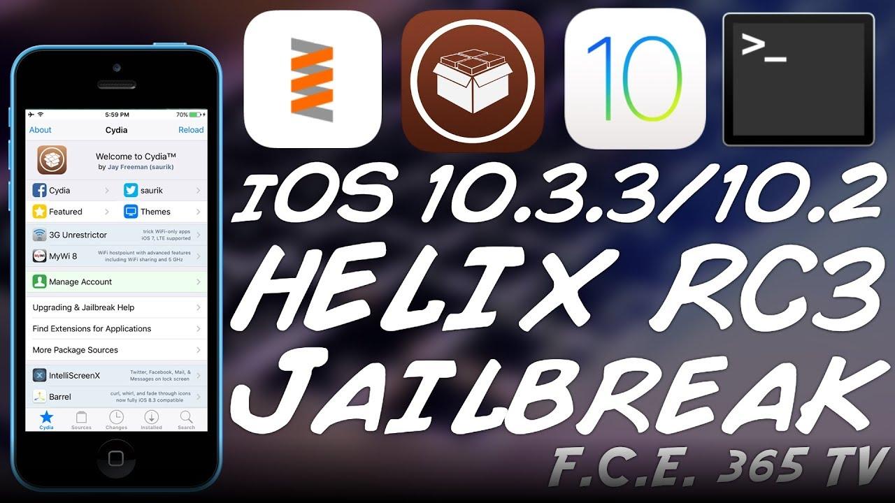 h3lix Jailbreak RC3 WAS RELEASED | iOS 10 3 3, iOS 10 3 2