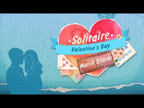 Solitaire Match 2 Cards Valentines Day