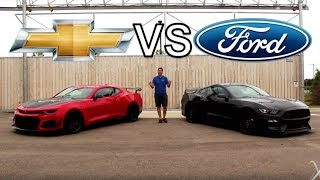 Shelby GT350R vs Camaro ZL1 1LE!!! | The Ultimate American Track Musclecar?