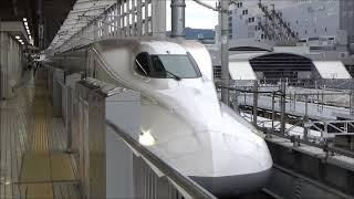 【量産編成初の廃車】N700系 X12編成廃車回送 京都駅にて