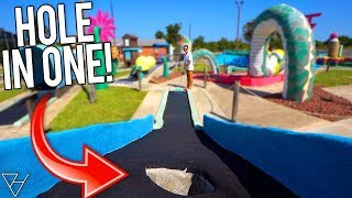 One Of The BEST Old School Mini Golf Courses! - Epic Hole In One!
