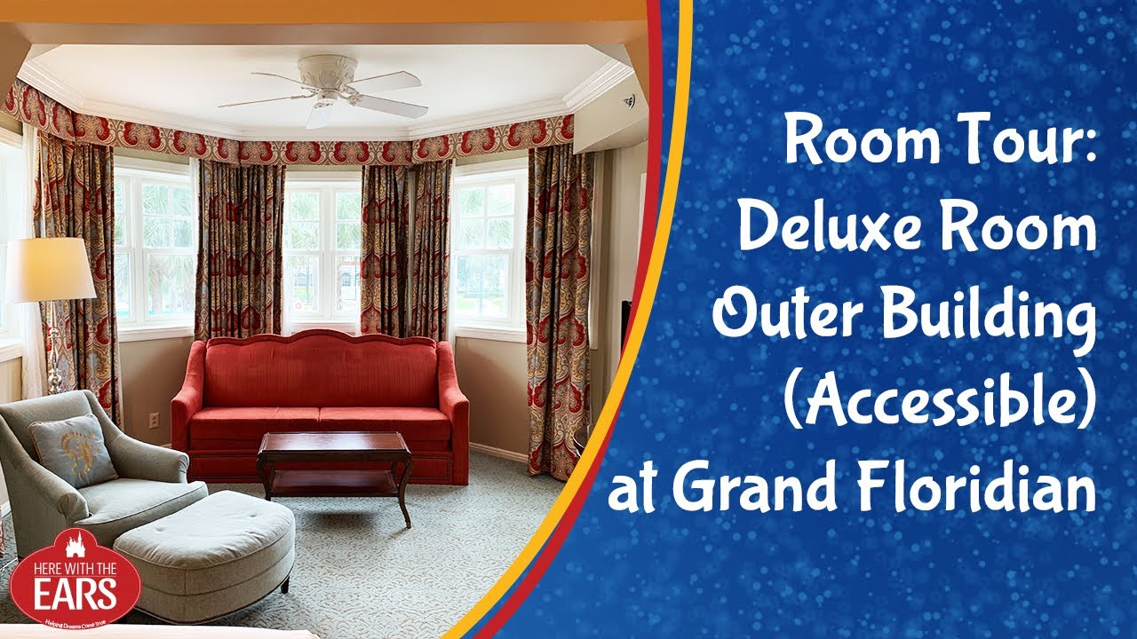 Full Room Tour Of A Deluxe Room Garden View At Grand Floridian Resort Outer Building Accessible Youtube