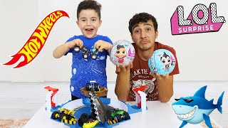 Yusuf plays Hot Wheels and Lol Baby Toys