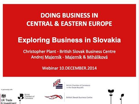 BSBC Webinar: Exporting to Slovakia 10 December 2014