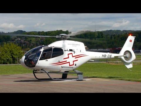 Eurocopter EC-120B Colibri 🚁  Start Up & Take-Off at Heliport Bern