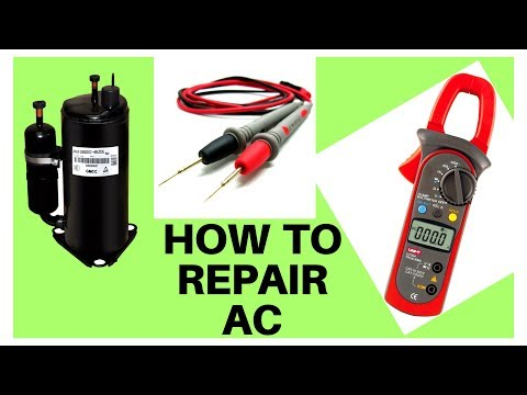 how to check ac compressor in hindi urdu/split ac repair ENGLISH SUBTITLE