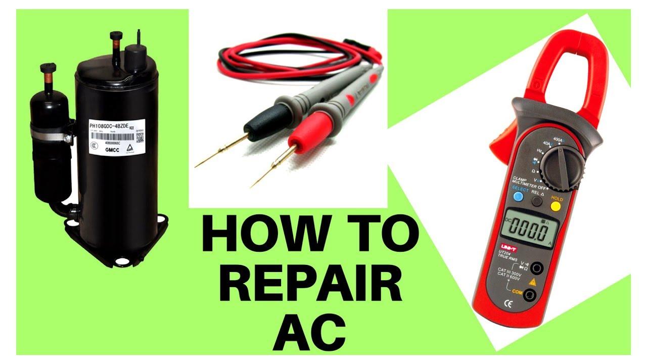 How To Check Ac Compressor In Hindi Urdu Split Repair English Suble