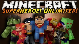Minecraft Mod Showcase : SUPERHEROES UNLIMITED!