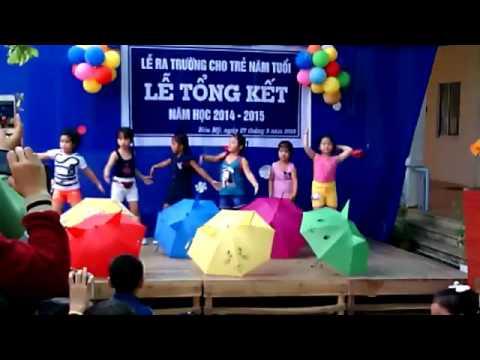 Mưa hè - Nhóm múa của trường mẫu giáo Hòa Mỹ