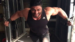 Wasim khan Mr.Universe Mr.World Mr.Galaxy Cross Over chest Workout..