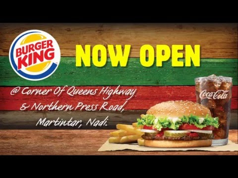 Burger King opens in Fiji