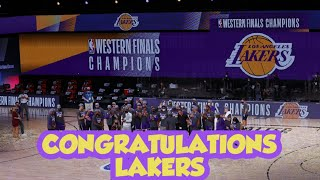 CONGRATULATIONS LAKERS SEE YOU ON FINAL.