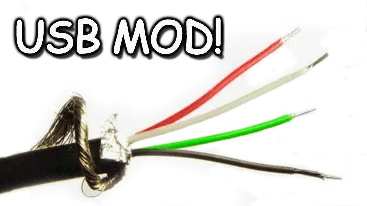 usb cord modding extending splicing youtube rh youtube com wiring usb cables USB 2.0 Cable Diagram