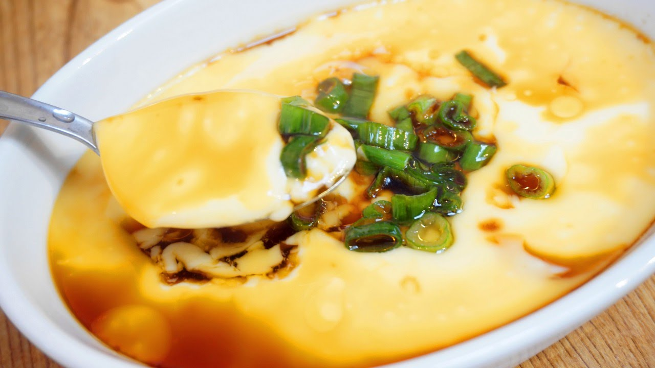 Prepare Steamed Egg Custard with Soy Sauce - DIY Food & Drinks ...