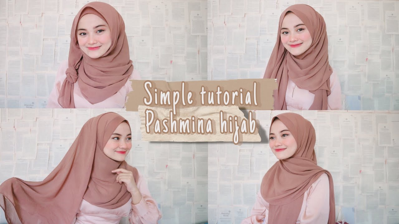 6 Cara Sederhana Memakai Hijab Pashmina Tutorial Hijab Lebaran Keundangan Kuliah Youtube