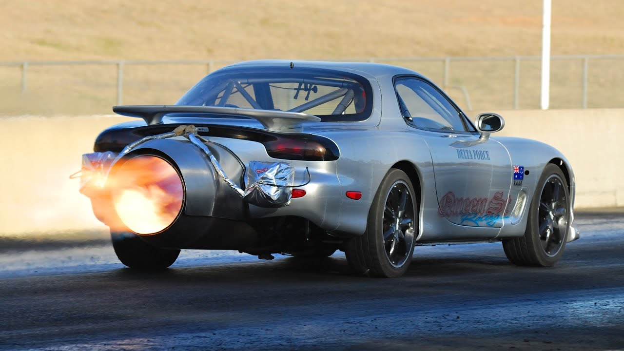 Blue Racing Car Wallpaper Jet Powered Mazda Rx 7 Youtube