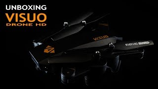 Unboxing VISUO Drone: Quadcopter HD+WIFI+FPV 2,4 GHz Foldable |40EUR|