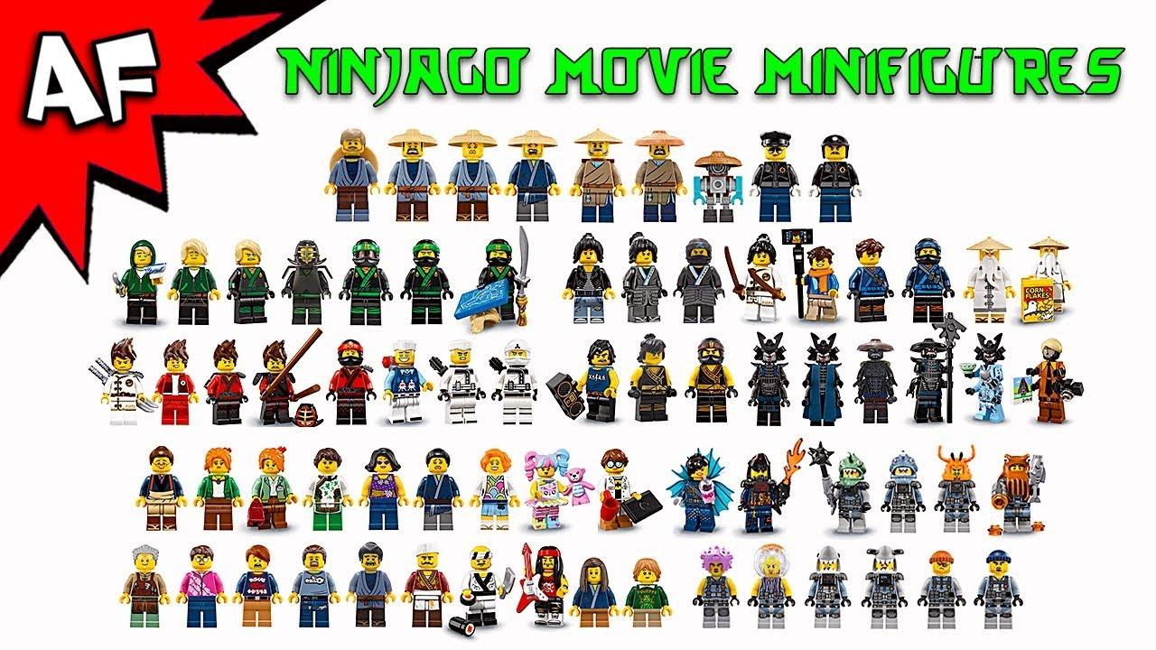 Lego Ninjago Movie Minifigures 2017 Complete Collection Youtube