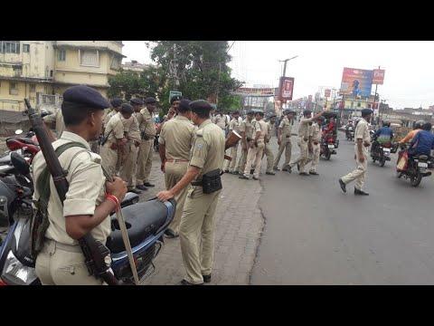 Breaking News DHANBAD  में पहली बार जुलूस को लेकर पुलिस तैनात।