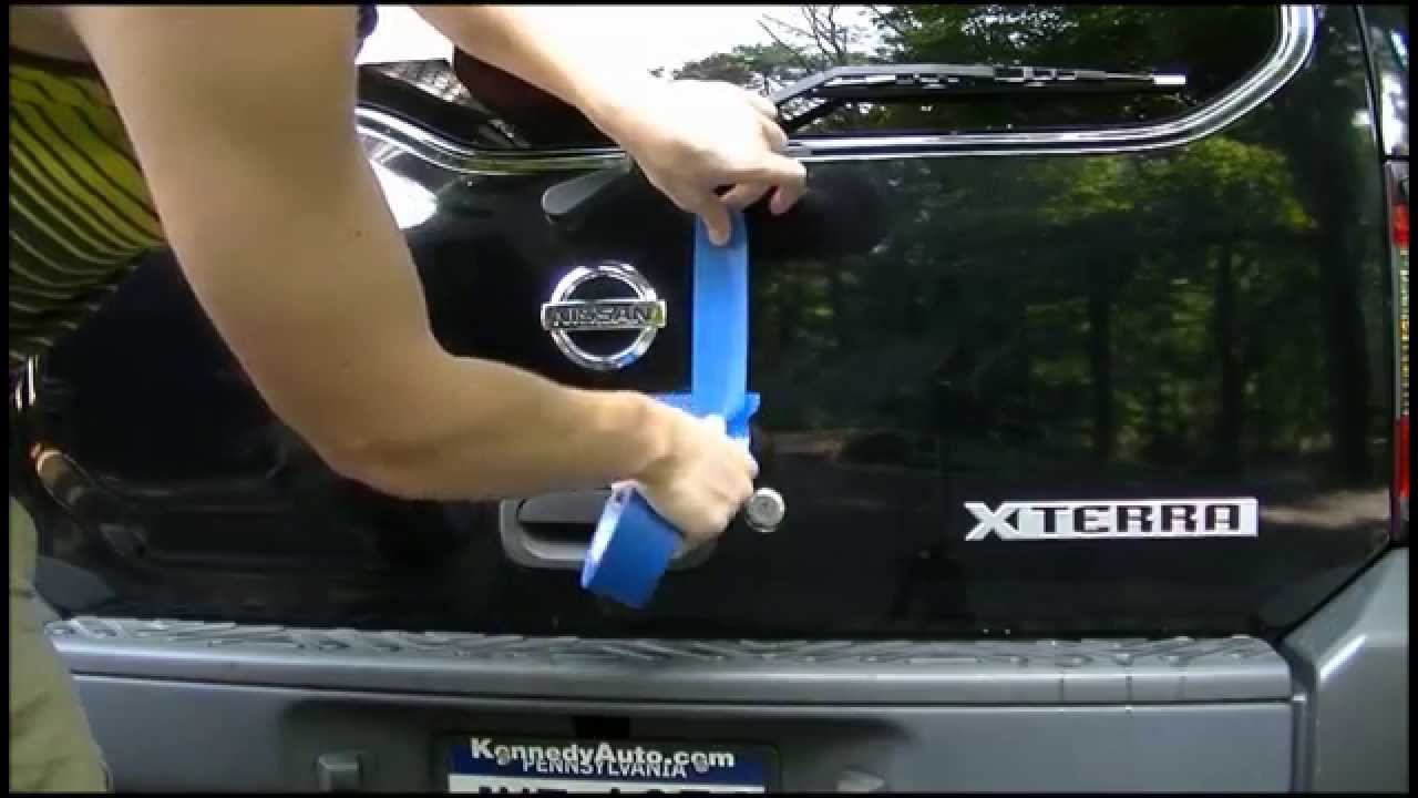 Plasti Dipping Emblems On A Nissan Xterra Youtube