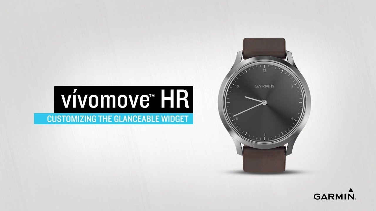 vívomove HR: Customizing the Glanceable Widget