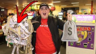 How Many TICKETS Can 1000 TOKENS Get You At Chuck E. Cheese!!