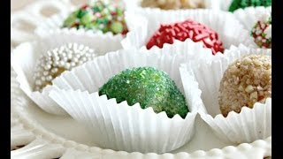 How To Make Holiday Peanut Butter Balls | Snacks | Six Sisters Stuff
