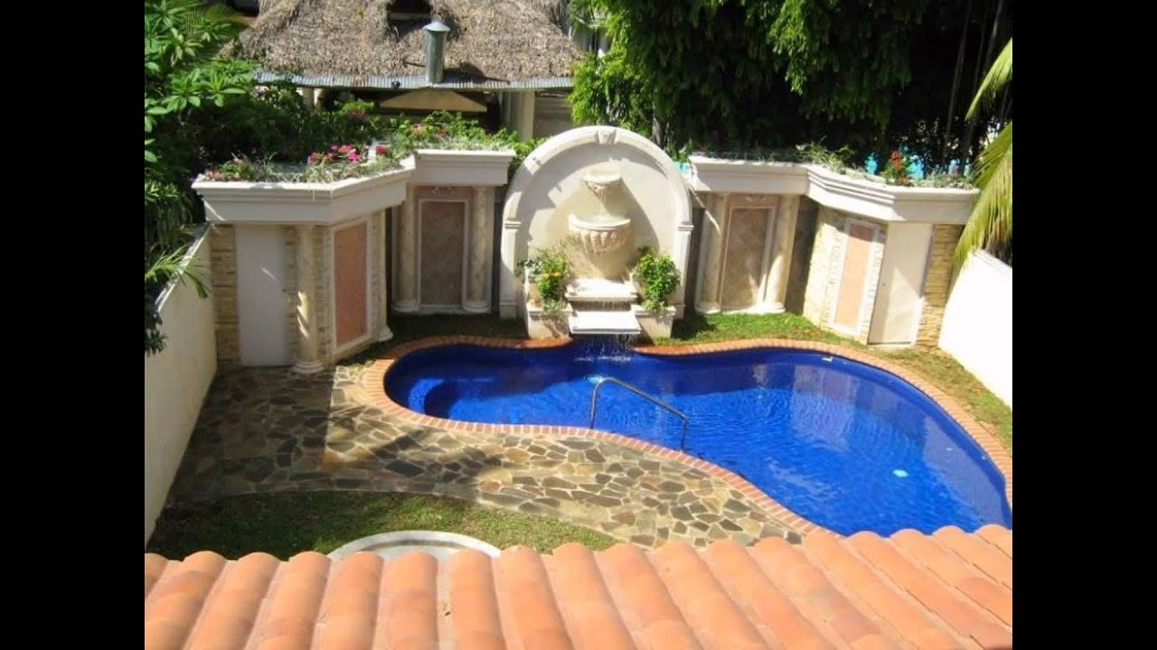 Inground swimming pool designs for small backyards for Pool design ideas