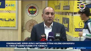 Başkan Vekilimiz Semih Özsoy'un Maç Sonu Açıklaması