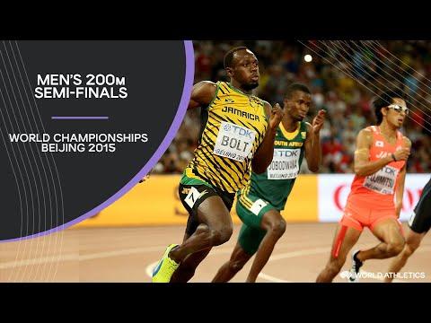 Men's 200m Semi-Finals | World Athletics Championships Beijing 2015