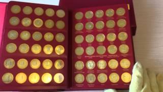 Моя коллекция монет современная Россия и Красная книга 1991 !