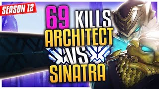 Genji God ARCHITECT gets 69 KILLS against his teammate SINATRAA SF Shock [S12 TOP 500]