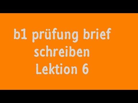 Goethe Zertifikat B1 Schreiben Beispiel Youtube