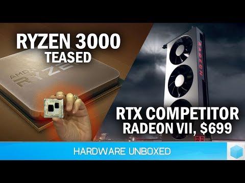 AMD Teases 3rd-Gen Ryzen vs i9-9900K, Flagship Radeon VII Gaming GPU is Coming