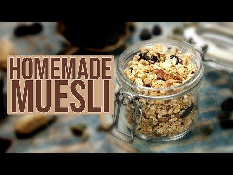 Homemade Muesli | Oats Muesli | Oats & Nuts Breakfast Mix How To Make Easy Muesli