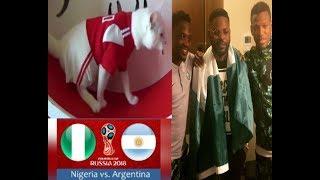 Nigeria Vs Argentina: Oracle Cat Picks Nigeria As Falz Visits Eagle's  Camp In Russia