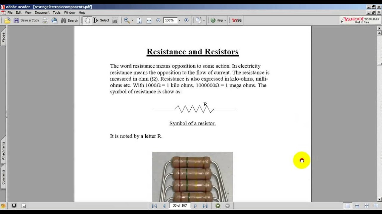 Testing Electronic Components Ebook Youtube